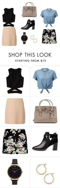 """""""2 in 1"""" by serrano-molly ❤ liked on Polyvore featuring Miss Selfridge, Theory, Michael Kors, Boohoo, Ted Baker, Olivia Burton and Nordstrom"""