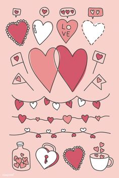 valentine drawn hand valentines doodle vector drawing rawpixel doodles drawings easy heart premium sketch sold diy illustration