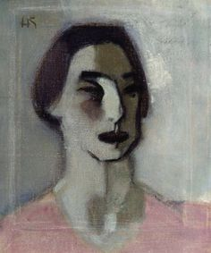 Helene Schjerfbeck (Finish 1862–1946) [Realism, Impressionism, Expressionism, Romanticism] Forty Year Old, 1939.