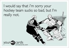 hehehe, I wouldn't even be sorry if they were having a better season than my team, cause they would still suck
