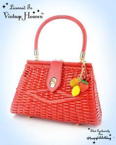 Vintage Heaven  - Summer Fruits Wicker Hand Bag in Red, $139.00 (http://www.vintageheaven.co.nz/summer-fruits-wicker-hand-bag-in-red/)