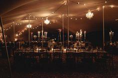 Chandeliers & alfresco lighting under stretch tent www.eventsandtents.co.za