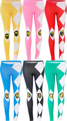 Commemorate your favorite cult classic with an awesome The Power Rangers Juniors Leggings. Free shipping on Power Rangers orders over $50.  #powerrangers
