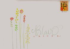 dots and dashes flowers | pushing the envelopes