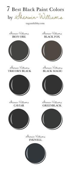 Dark Paint Colors, Exterior Paint Colors, Paint Colors For Home, Interior Colors, Neutral Paint, Exterior Design, Black Colors, Dark Gray Paint, Best Bathroom Paint Colors