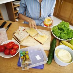 Healthy Lunches: Skip This, Pack This Chart of healthier trade-ins for lunches