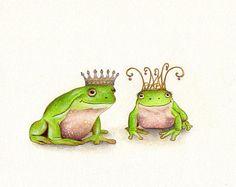 ORIGINAL ART- Frog Prince and Frog Princess