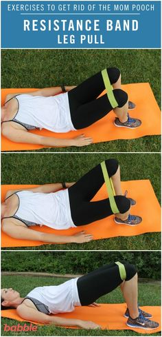 Resistance band leg pull start with 10-15 and build up to 20