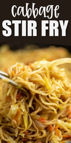 Sweet chili topped ramen noodles with cabbage cooked in a homemade stir fry sauce - this easy dinner idea is sure to be a new favorite Veggie Dishes, Pasta Dishes, Vegetable Recipes, Vegetarian Recipes, Veggie Meals, Side Dishes, Veggie Food, Main Dishes, Stir Fry Recipes