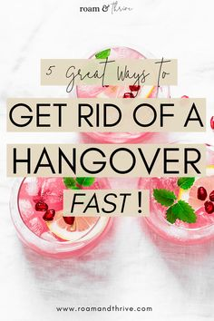How To Treat Hangover, Hangover Drink, Wellness Tips, Health And Wellness, Hangover Remedies, Healthy Eating Habits, Fun Drinks, Get Over It