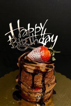 Strawberry  & Chocolate Cake  #borniskitchen