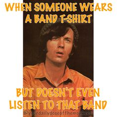 The Monkees David Jones Mike Nesmith Peter Tork Micky Dolenz 1960's Clean Humor Funny Memes