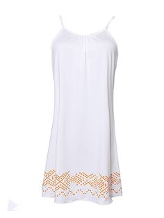 Sale 25% (10.99$) - Women Beach Spaghetti Strap Casual Mini Dress