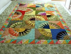 NEW YORK BEAUTY Scrappy Style in multicolor splendor by QuiltLover, $360.00