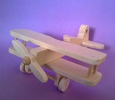 "Aeroplano de madera modelo de juguetes de madera para niños ""Stearman"" (código GIO005)"