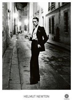 "Find the latest shows, biography, and artworks for sale by Helmut Newton. Dubbed the ""King of Kink"", influential fashion photographer Helmut Newton made his … Foto Glamour, Glamour Fashion, Yves Saint Laurent, Smoking Vintage, Fashion Night, New Fashion, Paris Fashion, Style Androgyne, Androgynous Women"