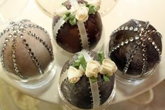 "Vintage looking Merlot dyed embellished Easter Eggs.  Complete ""how to"" article."