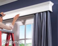 How to Build Window Cornices to cover drapery rods