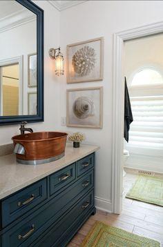 Powder Room. Coastal Powder Room Ideas. #PowderRoom #Coastal #HomeDecor
