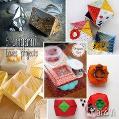 Mar&Vi Creative Studio - Italia: Ideas DIY: 5 Scatoline con la tecnica dell'origami