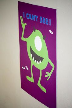 Head into Monstropolis this Monsters Inc Party By Sweet Tables by Chelle is Amazing Monster University Birthday, Monsters Inc University, Monster Birthday Parties, 3rd Birthday Parties, Monster Party, Third Birthday, Boy Birthday, Birthday Ideas, Monsters Inc Decorations