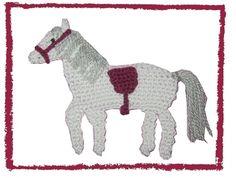 Pferd gehäkelt, crochet horse applique