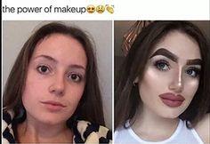 Funny Memes About Girls Makeup Lol Ideas Funny Images, Funny Pictures, Makeup Humor, Funny Makeup, Bad Makeup Fails, Worst Makeup, Power Of Makeup, Funny Memes About Girls, New Memes