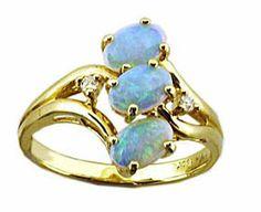 ✿ڿڰۣ(̆̃̃•Aussiegirl Australian Opal Ring
