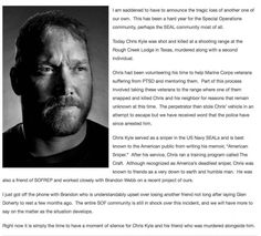 Legendary Navy SEAL Sniper & 'American Sniper' Author Chris Kyle Murdered, Shot Point-blank Execution Style...   RedFlagNews.com