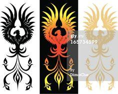 Royalty-free Vector Art: Three phenixes
