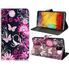 Funda divertida diseño mariposa rosa para Samsung Galaxy Note 3
