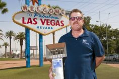 "Inventor pitches cigarette butt collector to Las Vegas - A great article about an eco-friendly invention. ""His outdoor cigarette and cigar receptacles have been sucessful in California rest stops as well as on beaches up and down the state."""