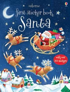 Santa and his elves are ready for Christmas. Fill the pages of this book with stickers to decorate the scenes.
