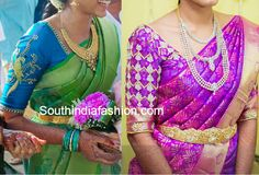 elbow length sleeves wedding blouse designs