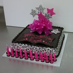 Chocolate Mud Cake With Leopard Print  Sargents Cakes