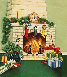 fete noel vintage gifs images - Page 9 Old Time Christmas, Old Fashioned Christmas, Christmas Scenes, Christmas Past, Christmas Holidays, Christmas Villages, Christmas Snowman, Christmas Ornaments, Vintage Christmas Images