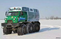 Custom 6 x 6 camper - ATV. Iooks like it makes a great off roader.