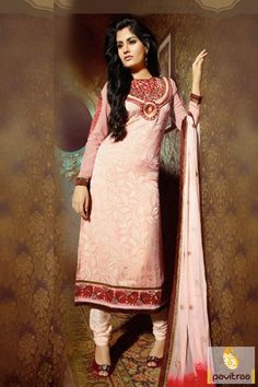 Pavitraa Peach with #Maroon #Casual Salwar Suits