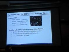 Synthesis of Nanomaterials for PV and PEC Water Splitting I - Nathan Neale