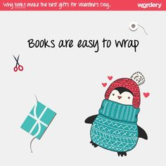 A few reasons why books make the best gifts for Valentine's Day! Books are easy to wrap.