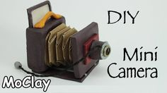 DIY Old folding Camera - Polymer clay Miniature Accessories