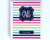 Personalized Monogram Planner Cover and Spines - Printable Planner Insert - (8.5x11in) - Instant Download