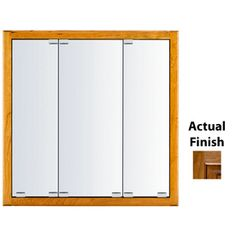 Kraftmaid Formal 23-In X 28-In Square Surface/Recessed Mirrored Wood M