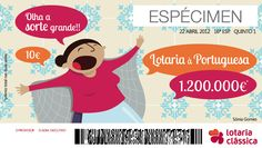 """""""Olha a Sorte Grande"""" ticket proposal for the Portuguese Lottery contest by Sónia PB Gomes"""