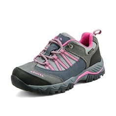 Clorts Women's Suede Leather Waterproof Hiking Shoe Outdoor Backpacking Trekking Shoes Grey HKL-831C US9