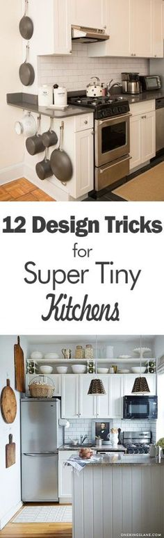 12 Design Tricks for Super Tiny Kitchens - 101 Days of Organization