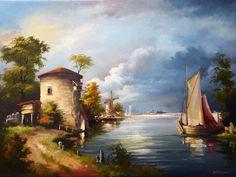 живопись голландских мастеров пейзажи: 7 тыс изображений найдено в Яндекс.Картинках House Painting, City, Image, Painted Houses, Cities