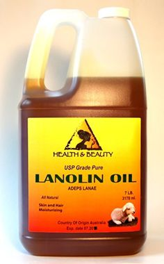 Lanolin Oil USP Grade 100 Pure Skin and Hair Moisturizing 7 LB 1 gal ** This is an Amazon Affiliate link. Visit the image link more details.