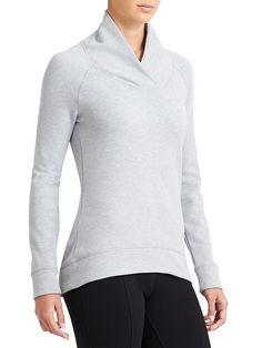 Athleta SoftTech Top,  Light Grey Heather #138496