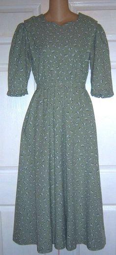 "Amish Mennonite Cape Dress Modest Handmade 38"" Bust /34"" Waist EUC #Handmade #Cape #Casual"